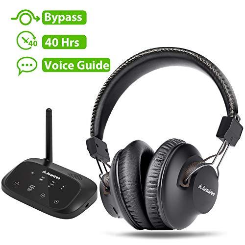 Avantree HT5009 40 Hrs Wireless Headphones for TV Watching w/Bluetooth Transmitter 164ft...