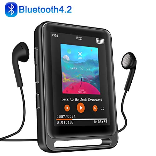 MP3 Player, Searick 16G MP3 Player with Bluetooth 4.2, 2.4' LCD Portable HiFi Lossless...
