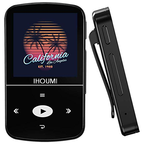32GB MP3 Player, IHOUMI MP3 Player with Bluetooth, Portable Music Player with Clip, Sport...