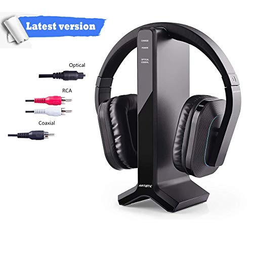 Wireless Headphones for Smart TV Watching with Transmitter Charging Dock, Digital Optical...