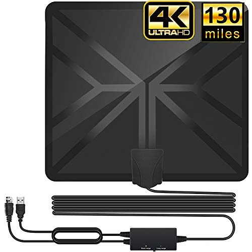 HDTV Antenna,130+ Miles Long Range Indoor Digital TV Antennas with 2020...