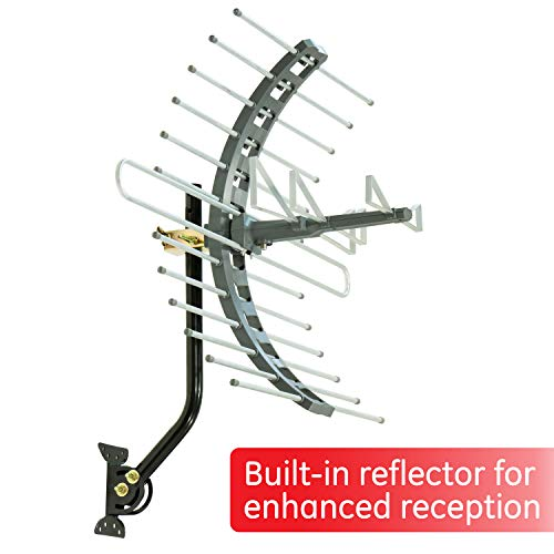 GE Pro Attic Mount TV Antenna, Outdoor, Attic, Long Range Antenna, Digital, HDTV Antenna,...