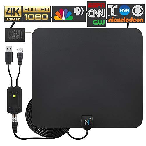 [Latest 2020 Advanced Chip] HDTV Indoor Antenna Long Range 200 Mile Signal Reception; High...