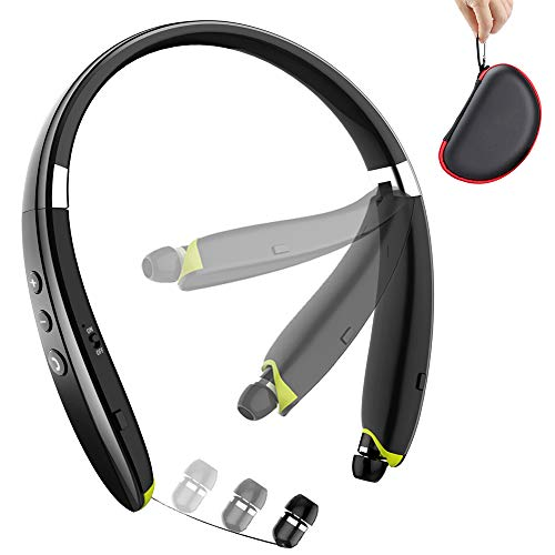 Bluetooth Headphones, BEARTWO Upgraded Foldable Wireless Neckband Headset...