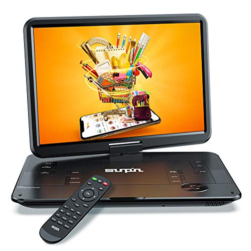 SUNPIN Portable DVD Player 17.9' with Large HD Swivel Screen, 6 Hours Rechargeable...