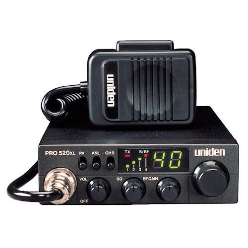 Uniden PRO520XL Pro Series 40-Channel CB Radio. Compact Design. ANL Switch and PA/CB...