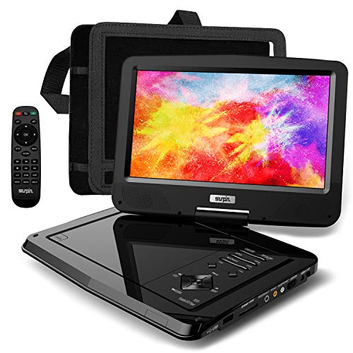 SUNPIN Portable DVD Player 12.5' for Car and Kids, 10.1 inch Eyesight Protective HD Swivel...