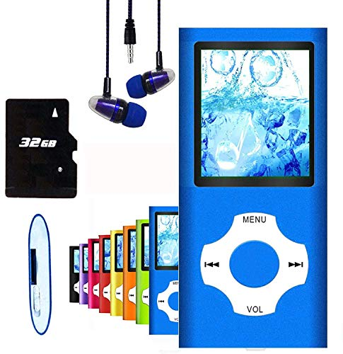 MP3 Player / MP4 Player, Hotechs MP3 Music Player with 32GB Memory SD Card Slim Classic...