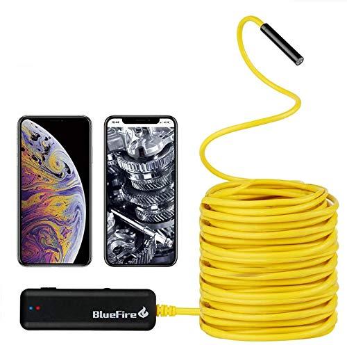 BlueFire Semi-Rigid Flexible Wireless Endoscope IP67 Waterproof WiFi Borescope 2 MP HD...