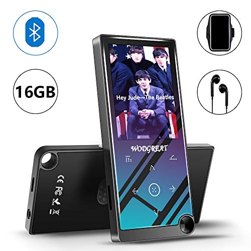 Wodgreat MP4 Player with Bluetooth 4.2 Portable 16 GB Hi-Fi Lossless Sound MP4/MP3 Music...