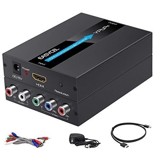 EASYCEL HDMI to Component Converter, 1080P Aluminum HDMI to RGB Converter, HDMI to YPbPr...