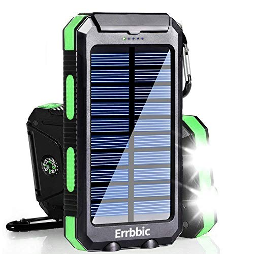 Solar Charger, 20000mAh Solar Power Bank Waterproof Portable Charger External Battery...