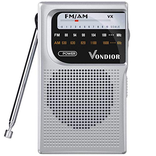 AM FM Battery Operated Portable Pocket Radio - Best Reception and Longest Lasting. AM FM...