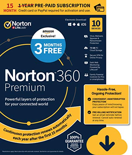 EXCLUSIVE Norton 360 Premium – Antivirus software for 10 Devices with...