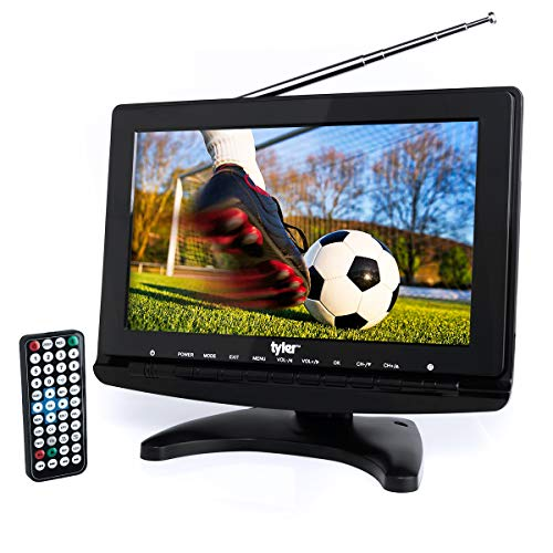 "Tyler TTV706 10"" Portable Widescreen 1080P LCD TV with Detachable Antennas, HDMI, USB,..."
