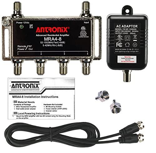 4-Port Cable TV/Antenna/HDTV/Internet Digital Signal Amplifier/Booster/Splitter with...