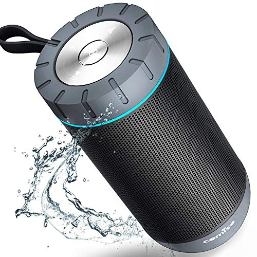 COMISO Waterproof Bluetooth Speakers Outdoor Wireless Portable Speaker with...