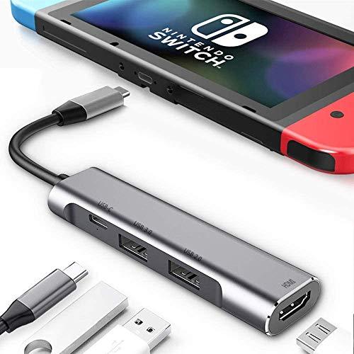 RREAKA USB Type C to HDMI Digital AV Multiport Hub,USB-C (USB3.1) Adapter PD Charger for...