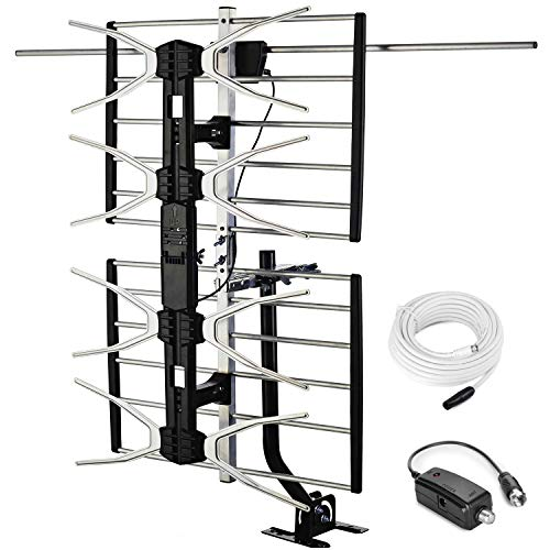 pingbingding Outdoor Digital HD TV Antenna with High Gain Amplifier 150 Mile Long Range...