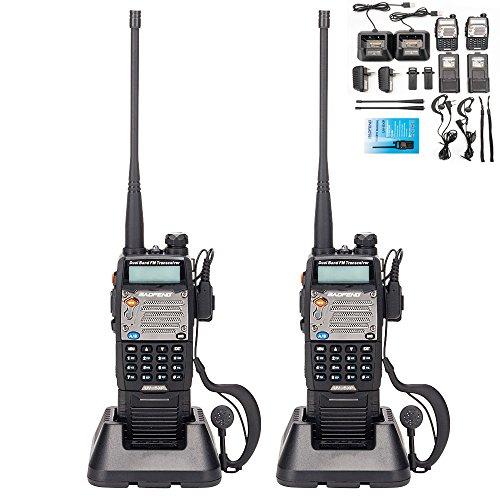 BaoFeng UV-5R Upgrade Version UV-5XP Extended Battery VHF UHF Two Way Radio 7.4v 8W...