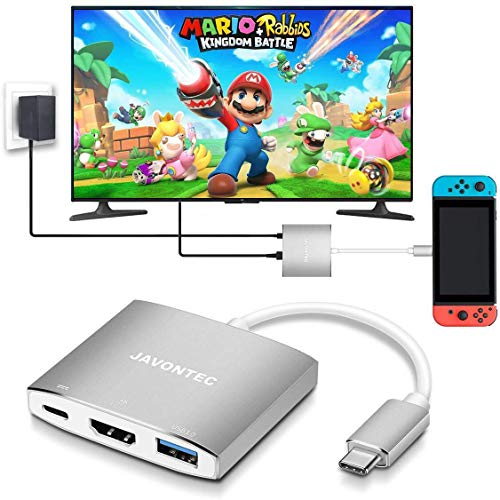USB C to HDMI Hub Dock for Nintendo Switch, JAVONTEC USB Type C HDMI Adapter Converter...
