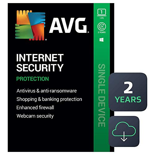 AVG Internet Security 2020   Antivirus Protection Software   1 PC, 2 Years...