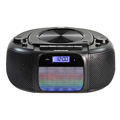 Magnavox MD6972 Portable Top Loading CD Boombox with Digital AM/FM Stereo Radio, Color...
