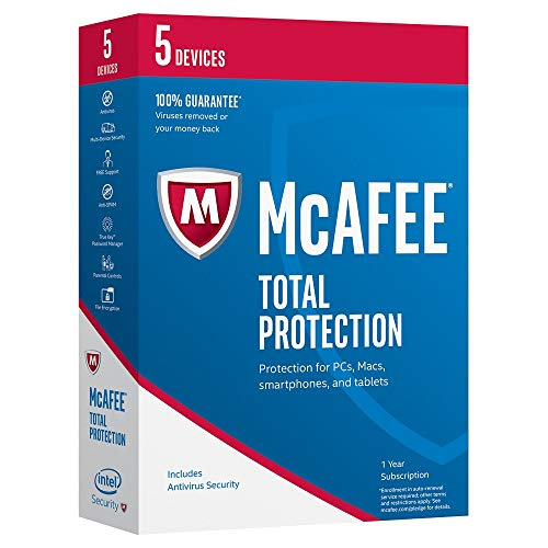 McAfee 2017 Total Protection-5 Devices (MTP17ETG5RAA)