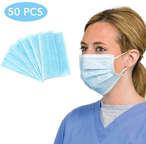 50 Pcs Disposable Fаce Mаsks for Children and Adults-Ideal Medicаl Mouth Mаsks, can be...
