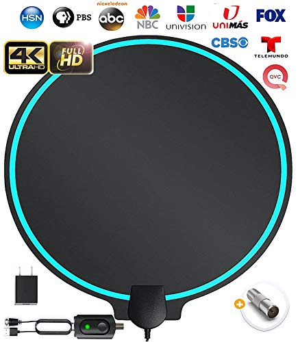 All-New 2020 Indoor HDTV Digital Antenna 4K HD Freeview Life Local Channels All Type...