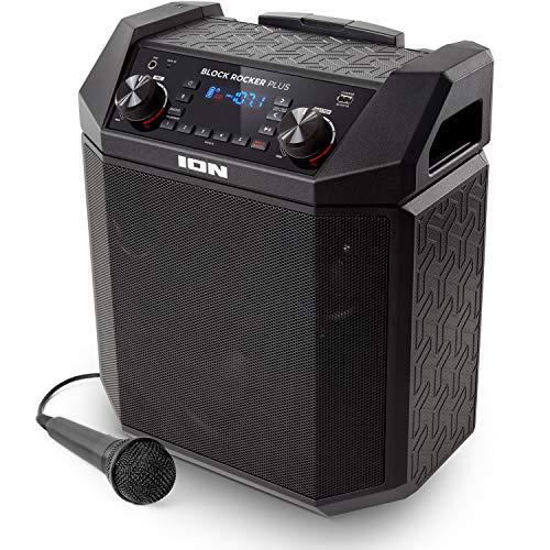 ION Audio Block Rocker Plus | 100W Portable Speaker, Battery Powered with Bluetooth,...