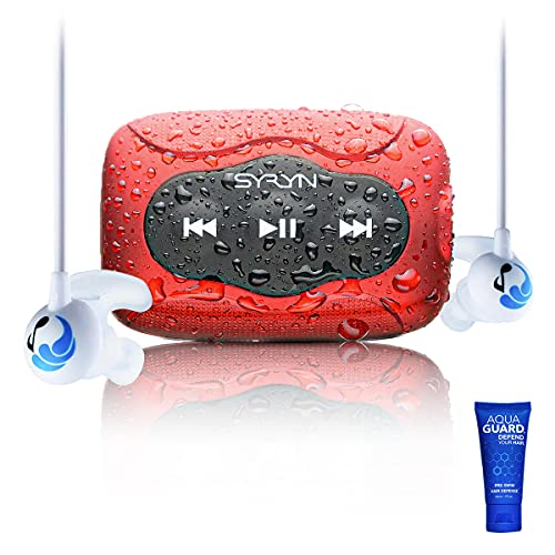 SYRYN Swimbuds Sport Bundle | 8 GB Waterproof Music Player Compatible with iTunes Files...