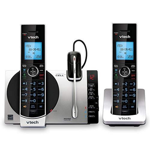 VTech DS6771-3 DECT 6.0 Expandable Cordless Phone with Connect to Cell, Siri and Google...