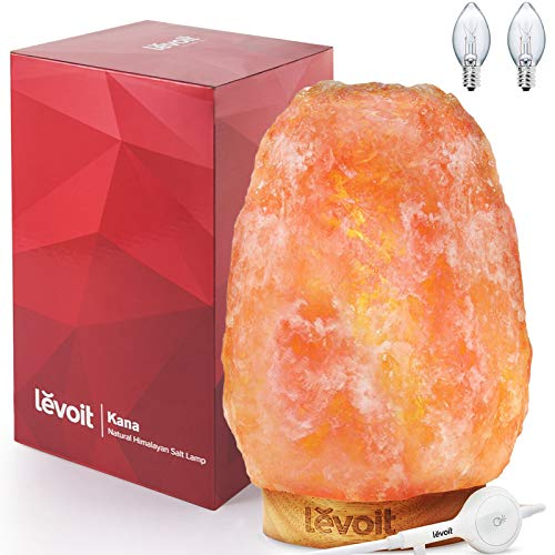 LEVOIT Kana Himalayan Salt Lamp, Pink Rock Large Crystal Natural Himilian Gift Night Light...