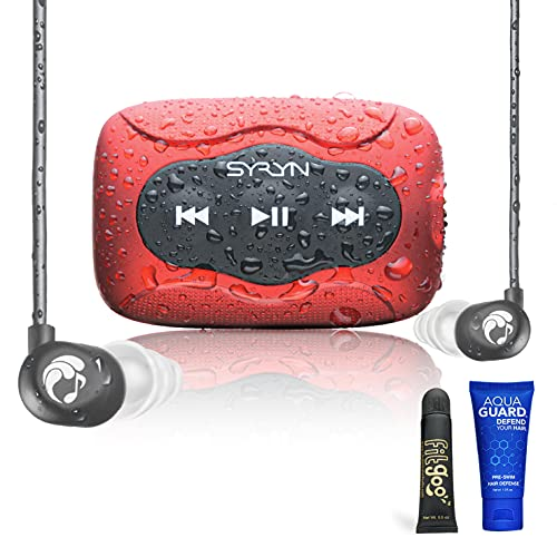 SYRYN Swimbuds Flip Bundle | 8 GB Waterproof Music Player Compatible with iTunes Files (No...