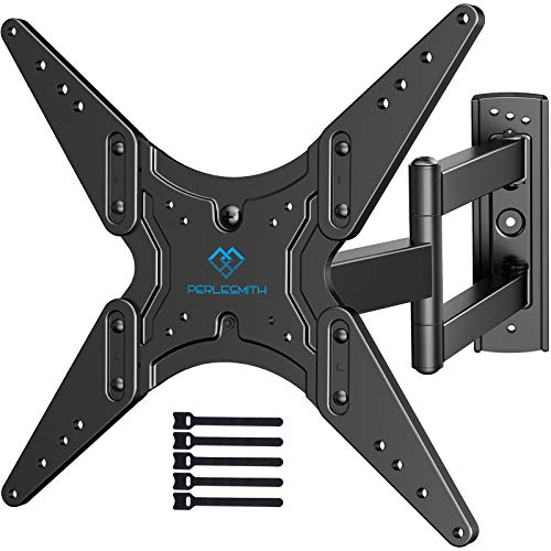 PERLESMITH TV Wall Mount for Most 26-55 Inch Flat Curved TVs with Swivels, Tilts & Extends...