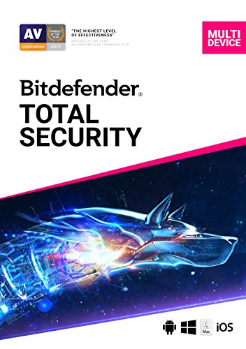 Bitdefender Total Security - 5 Devices   1 year Subscription   PC/Mac   Activation Code by...