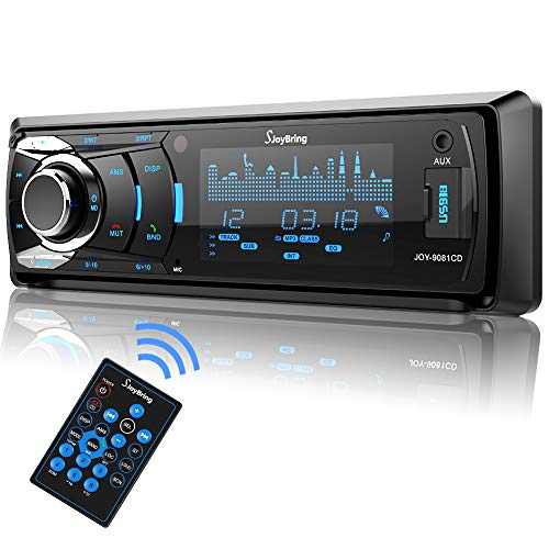 SjoyBring Car CD Player with Bluetooth, Car Stereo with Hands Free Calling, HD Large...