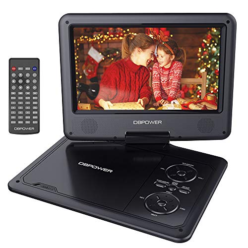 DBPOWER 11.5' Portable DVD Player, 5-Hour Built-in Rechargeable Battery, 9' Swivel Screen,...
