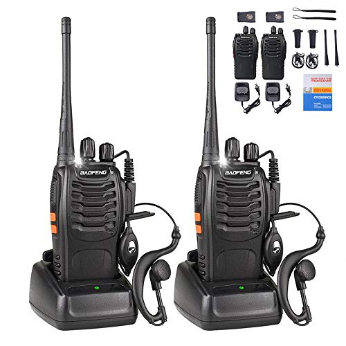BaoFeng Walkie Talkies Rechargeable Long Range for Adults, UHF FRS/GMRS Two Way Radio with...