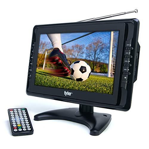Tyler TTV703 10' Portable Widescreen LCD TV with Detachable Antennas, USB/SD Card Slot,...