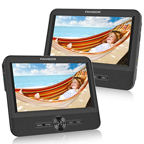 FANGOR 7.5'' Dual Car DVD Player, Headrest Video CD Player with Two Screens, Supported...