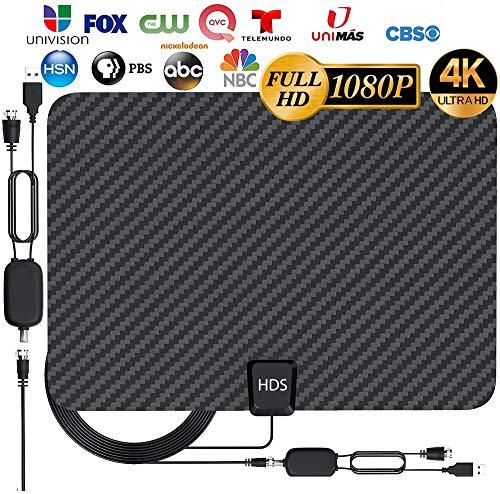 [Latest 2020] HDTV Digital Antenna 4K 1080p - 120 Mile Range, UHF & VHF Reception, ICPCB...