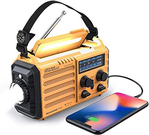 Weather Radio Raynic Solar Hand Crank Emergency Radio 5 Ways Powered AM/FM/SW/NOAA Weather...