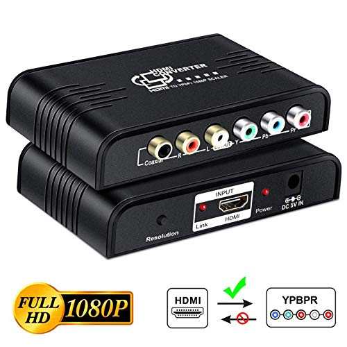 NEWCARE HDMI to 1080P Component Video (YPbPr) Converter with Scaler,HDMI to Component...