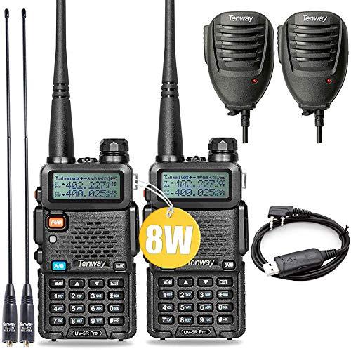 Ham Radio Walkie Talkie UV-5R Pro 8-Watt Dual Band Two Way Radio with Ham Radio Handheld...