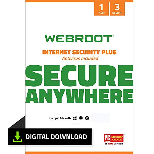 Webroot Internet Security Plus with Antivirus Protection Software    3...