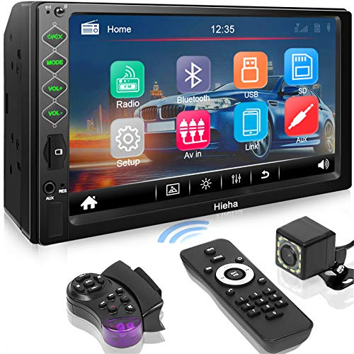Hieha Double Din Car Stereo with Bluetooth, 7' HD Touch Screen Car Radio with Backup...