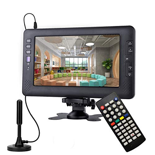 9Inch Portable TV for ATSC Digital TV Viewing in The US,Canada,Mexico,USB/AV in...
