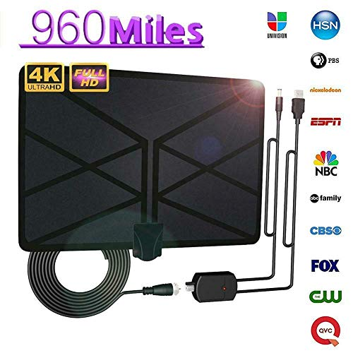 Tenrry 960 Mile Range Antenna TV Digital 4K HD Digital Indoor HDTV 1080P...
